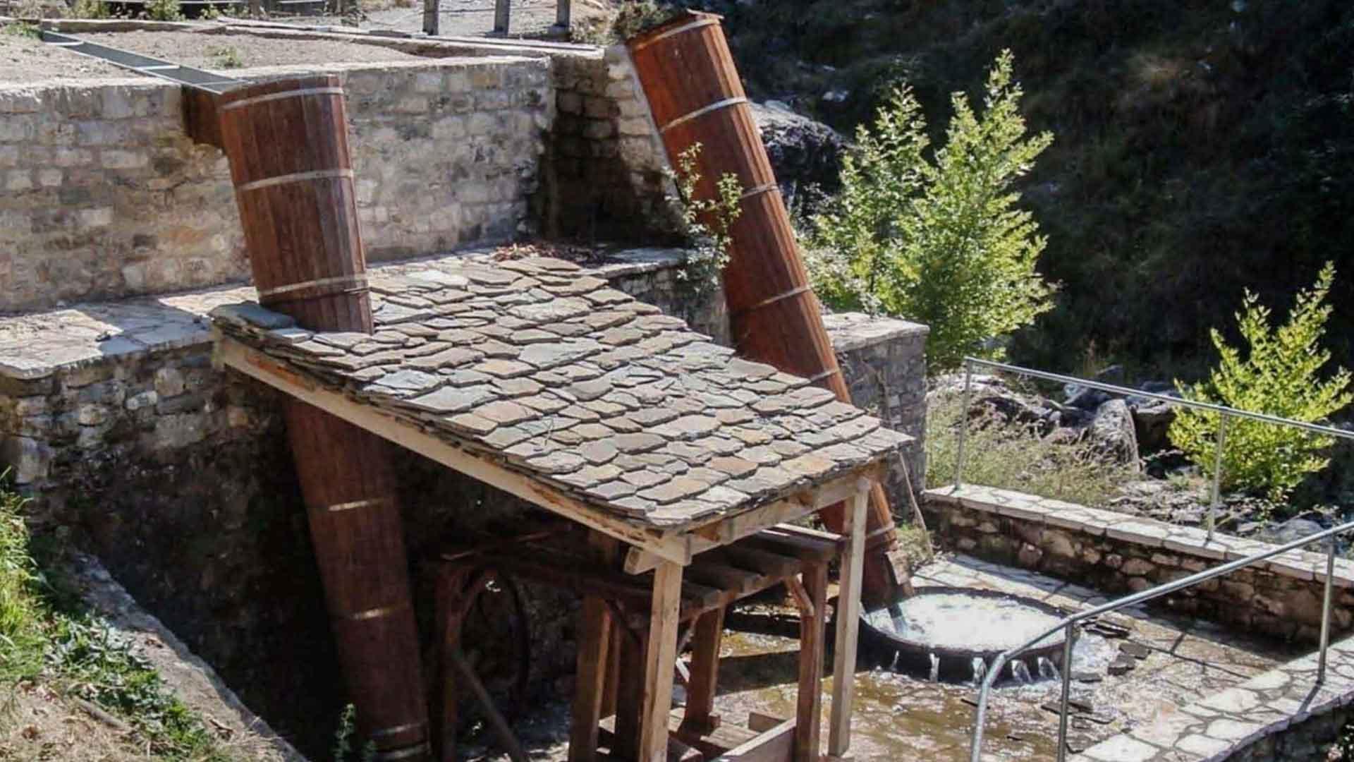 Traditional watermills in Tzoumerka
