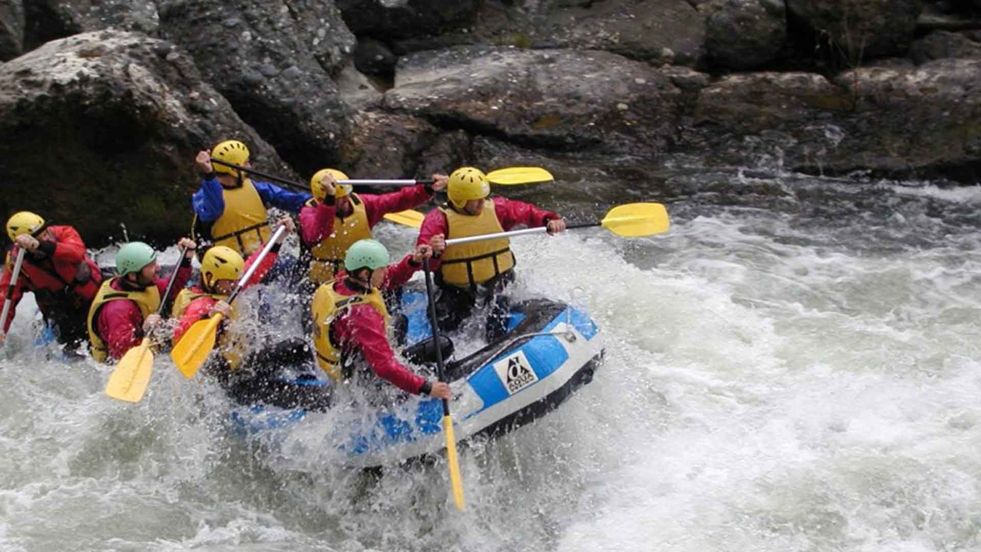 Rafting in river Arachthos
